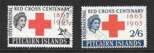PITCAIRN ISLANDS SG34/5 1963 RED CROSS FINE USED