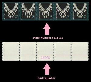 US 3758B American Design Navajo Jewelry 2c PNC5 back number MNH 2011