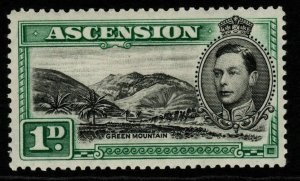 ASCENSION SG39 1938 1d BLACK & GREEN p13½ MTD MINT