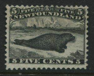 Newfoundland 1868 10 cents black seal unused no gum