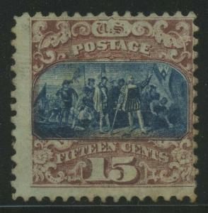 #119 15c TYPE 2 1869 MINT PART OG LH AU969