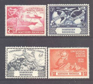 Northern Rhodesia Scott 50/53 - SG50/53, 1949 UPU Set MH*