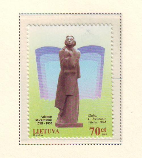 Lithuania Sc 620 1998 Mickiewicz stamp mint NH