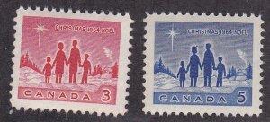 Canada #  434-435, Christmas, NH, 1/2 Cat.
