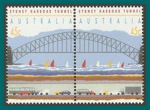 Australia 1992 Sydney Tunnel, perf 14.5 MNH  #1296,SG1375a