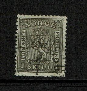 Norway SC# 11, Used, minor bending - S9193