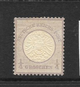 GERMANY  1872-74  1/4g  LARGE  SHIELD   MLH   SG 16   Mi 16