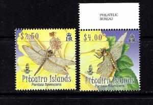 Pitcairn Is 690-91 MNH 2009 Dragonfly