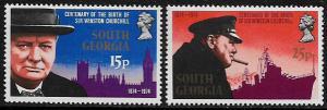 South Georgia #39-40 MNH Set - Winston Churchill
