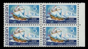 CANADA - 5c Voyage of the Nonsuch SC482 Mint NH Block
