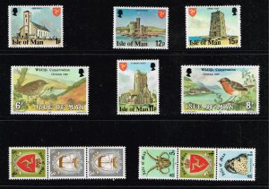 UK STAMP ISLE OF MAN FRESH MNH STAMPS COLLECTION LOT  #W1