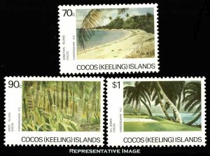 Cocos Islands Scott 159-161 Mint never hinged.