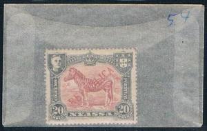 Nyassa 54 Unused Zebra 1911 (N0475)