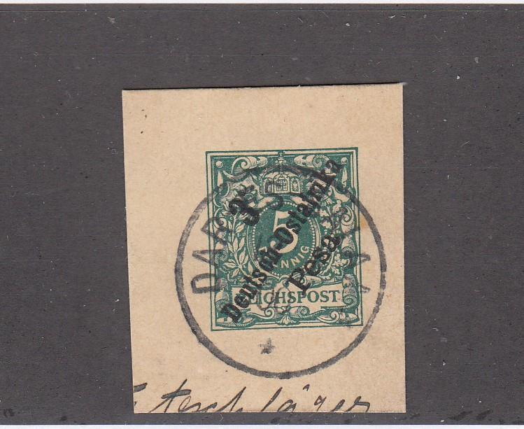 GERMAN EAST AFRICA POSTAL CARD WITH SUPERB SON TOWN CANCEL COLLECTED FOR PMKS