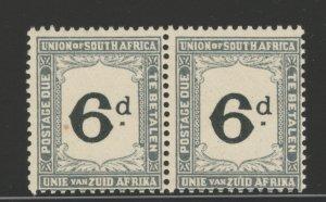 South Africa 1914 Postage Due 6p Scott # J6 MNH Pair