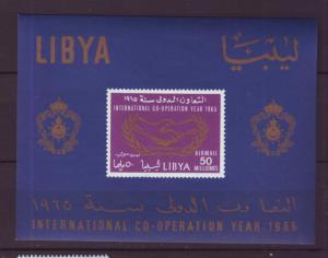 Z454 Jlstamps 1965  libya s/s mh #c51a airmail