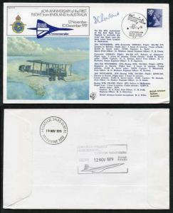 FF10b 60th Ann 1st Flight from England to Australia Signed by First Officer