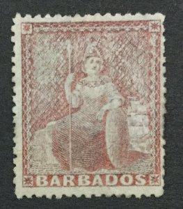 MOMEN: BARBADOS SG #59 LARGE STAR 1873 MINT OG H LOT #192430-1211