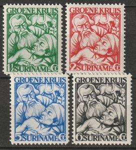 Suriname 1928 Sc B8-11 set MLH