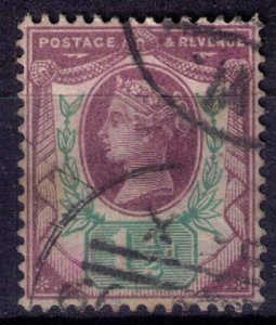 Great Britain Sc #112 1-1/2p Violet & Green Very Fine