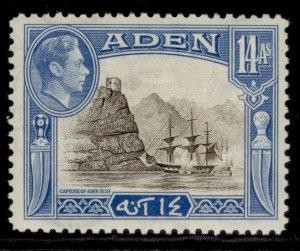 ADEN GVI SG23a, 14a sepia & light blue, NH MINT.