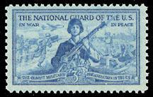 1017 National Guard F-VF MNH single