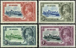 Saint Helena Scott #111 - #114 Complete Set of 4 Mint   Silver Jubilee Issue