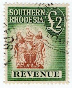 (I.B) Southern Rhodesia Revenue : Duty Stamp £2