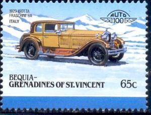 Antique Car, 1929 Isotta, St. Vincent Grenadines, Bequia SC#105 MNH