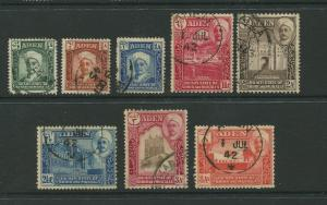STAMP STATION PERTH Shihr & Mukalla #1-8  Definitive Issue 1942 Used  CV$7.00