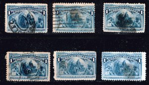 US STAMP  #230 1c 1893 Columbian Issue Used STAMPS LOT