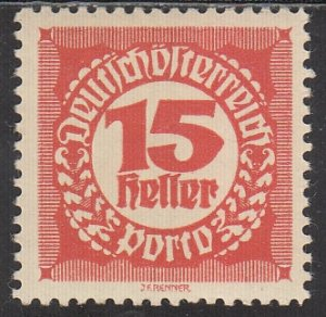 Austria, Sc J77, MNH, 1920