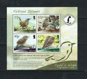 Falkland Islands: 2009, Endangered Species, Cobbs Wren, M/Sheet MNH