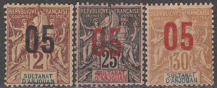 Anjouan #20, 24-5  F-VF Unused CV $4.75  (A16879)