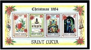 St Lucia 705a MNH 1984 Christmas S/S (KA)