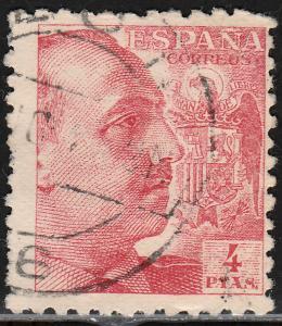 Spain 704, 4Pts FRANCO. Used. F. (134)