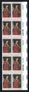 1363 MNH Christmas Angel, tagged, plate strip 20 - see scan