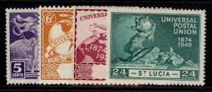 ST. LUCIA GVI SG160-163, anniversary of UPU set, M MINT.
