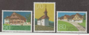 Liechtenstein Scott #1132-1133-1134 Stamps - Mint NH Set