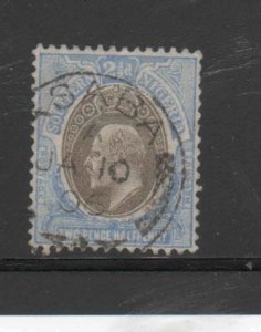 SOUTHERN NIGERIA #13  1904  2 1/2p  KING EDWARD VII       F-VF USED