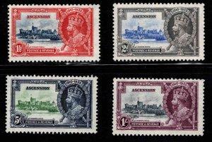 ASCENSION  Scott 33-36 MH* 1935 Silver Jubilee set CV$58
