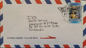 A) 2002, GUATEMALA, COVER SHIPPED TO FINLAND, AIRMAIL, JACINTO RODRIGUEZ AVIATIO