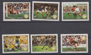 J28637, 1982 belize set mnh #b1-6 sports