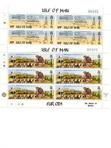 Isle of Man 1983 Europa sheets complete VF NH
