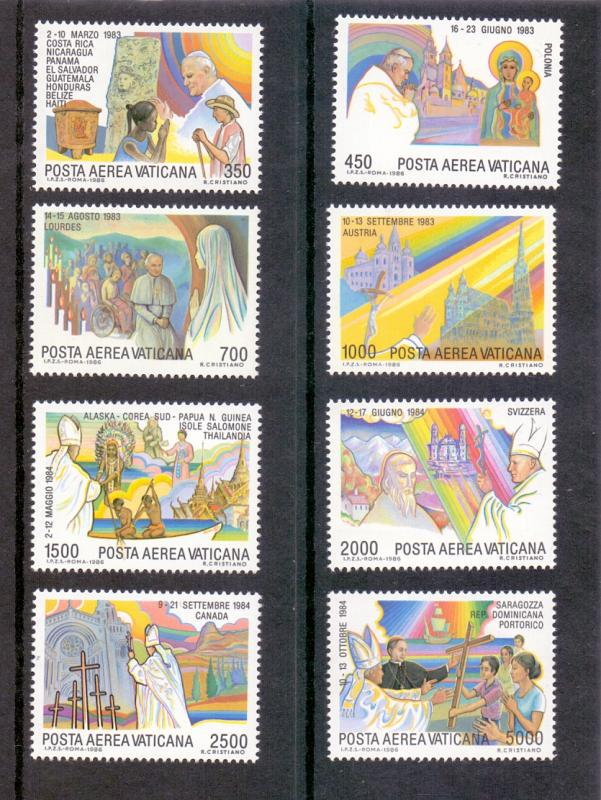 Vatican City 1986 MNH AIR Pope John Paul II`s journeys  (4th series)