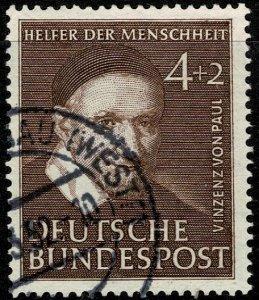 GERMANY 1951 HUMANITARIAN FUND 4pf+2pf USED (VFU) SG1069 Wmk.263 P.14 SUPERB