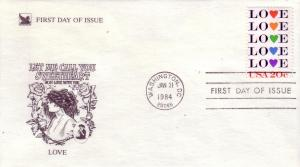 US FDC Sc.# 2072 LOVE Stamp 1984 L792