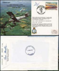 B16b 70th Anniv of the Formation of No.17 Squadron Pilot Signed (E)