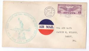 FFC AM 20 New York City NY 1931 First Flight CAM Cover