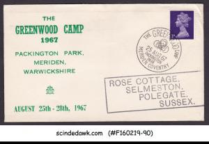 GREAT BRITAIN - 1967 THE GREENWOOD CAMP BOY SCOUT COVER WITH CANCL.
